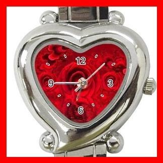 Fractal Red Rose Hobby Italian Charm Wrist Watch 017