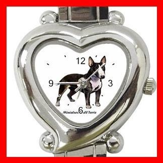 Miniature Bull Terrie Dog Pet Hobby Italian Charm Wrist Watch 026