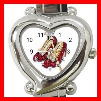Wizard of Oz Ruby Slipper Hobby Italian Charm Wrist Watch 027