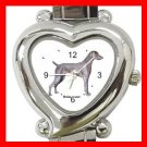 Weimaraner Dog Pet Hobby Italian Charm Wrist Watch 030