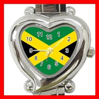Jamaican Flag Nation Patriotic Italian Charm Wrist Watch 036