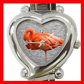 PINK FLAMINGO Bird Italian Charm Wrist Watch 038