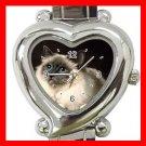 I Love Birman Cat Kitty Pet Italian Charm Wrist Watch 042