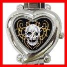 Skull Skeleton Goth Hobby Italian Charm Wrist Watch 047