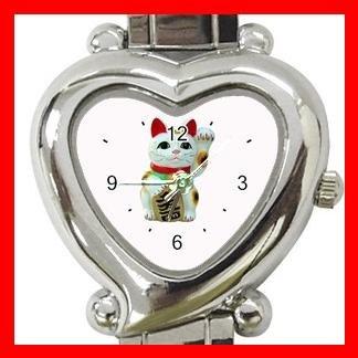 Lucky Cat Pet Animal Hobby Italian Charm Wrist Watch 052