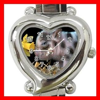 Cute Pig Pet Animal Hobby Italian Charm Wrist Watch 056