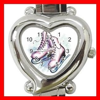 Ice Skating Sport Hobby Fun Italian Charm Wrist Watch 057