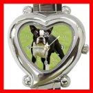 Boston Terrier Dog Pet Hobby Italian Charm Wrist Watch 063