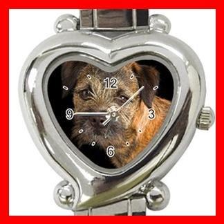 Border Terrier Dog Pet Hobby Italian Charm Wrist Watch 064