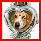 Foxhound Dog Pet Hobby Italian Charm Wrist Watch 072