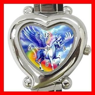 Flying Unicorn Myth Fantasy Italian Charm Wrist Watch 073