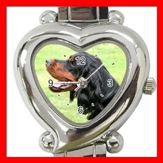 Gordon Setter Dog Pet Hobby Italian Charm Wrist Watch 074