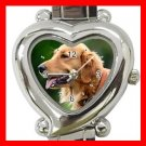 Golden Retriever Dog Pet Hobby Italian Charm Wrist Watch 076