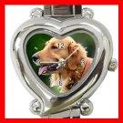 Golden Retriever Dog Pet Hobby Italian Charm Wrist Watch 076