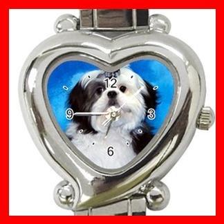 Shih Tzu Dog Pet Hobby Italian Charm Wrist Watch 095