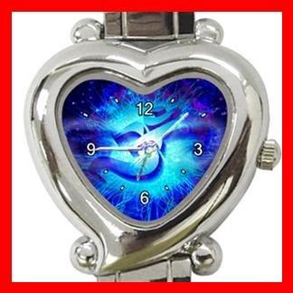 OM Symbol Blue Infinity Italian Charm Wrist Watch 097