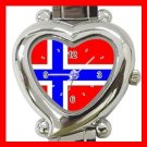 Norway Flag Patriot Italian Charm Wrist Watch 098