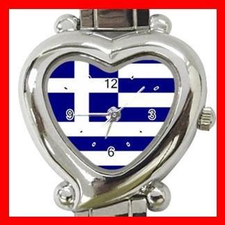 Greek Flag Patriot Nation Italian Charm Wrist Watch 101