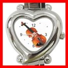 Violin Music Instrument Italian Charm Wrist Watch 103