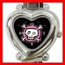 Pink Skull Hobby Heart Italian Charm Wrist Watch 113