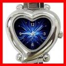 Weird Blue Hobby Heart Italian Charm Wrist Watch 114