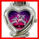 Unicorn Dance Myth Heart Italian Charm Wrist Watch 115