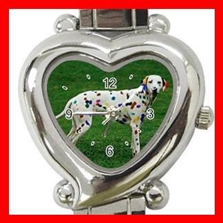Dalmatian Pet Dog Heart Italian Charm Wrist Watch 119