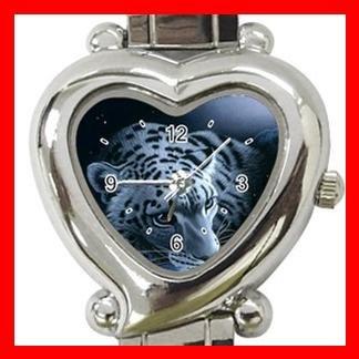 Cool Leopards Animal Heart Italian Charm Wrist Watch 120