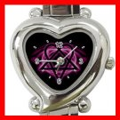 Pink Heartagram Heart Italian Charm Wrist Watch 121