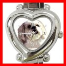 Lhasa Apso Dog Pet Animal Heart Italian Charm Wrist Watch 126