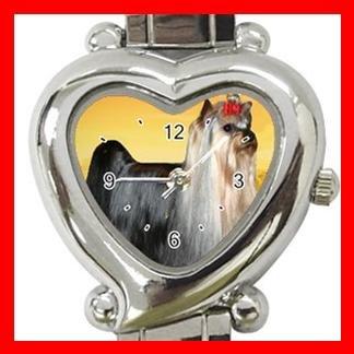 YORKSHIRE TERRIER Dog Pet Heart Italian Charm Wrist Watch 129