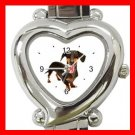 Dachshund Dog Pet Animal Heart Italian Charm Wrist Watch 132