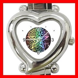 Pentagram Pentacle Seasons Heart Italian Charm Wrist Watch 133