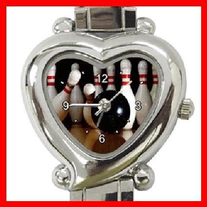 Bowling Sport Game Heart Italian Charm Wrist Watch 138