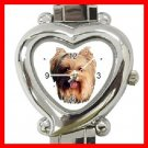 Yorkshire Terrier Dog Pet Heart Italian Charm Wrist Watch 142