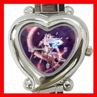 Purple Moon Fantasy Myth Heart Italian Charm Wrist Watch 143