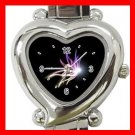 The Light of Butterfly Heart Italian Charm Wrist Watch 145