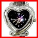 The Light of Butterfly Heart Italian Charm Wrist Watch 145