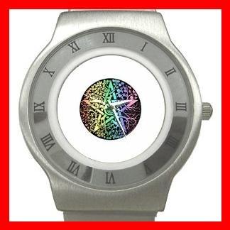 Pentagram Pentacle Seasons Stainless Steel Wrist Watch Unisex 012