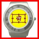 Old Scottish Rampant Lion Flag Stainless Steel Wrist Watch Unisex 016