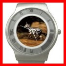 Zebra Running Horse Animal Stainless Steel Wrist Watch Unisex 017