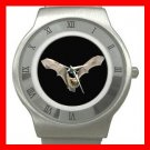 Rare Bat Flying In Dark Hobby Stainless Steel Wrist Watch Unisex 018