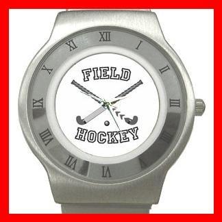 Field Hockey Sports Game Stainless Steel Wrist Watch Unisex 022