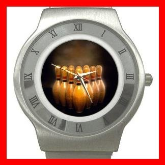 Bowling Sports Game Stainless Steel Wrist Watch Unisex 023
