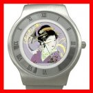Geisha Geiko Japanese Art Stainless Steel Wrist Watch Unisex 025