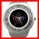 Wicca Pentagram Dragons Myth Stainless Steel Wrist Watch Unisex 034