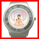 Yoga Girl Gym Sports Game Stainless Steel Wrist Watch Unisex 036