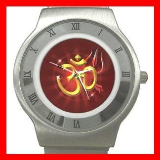 OM Golden Peace Hobby Fan Stainless Steel Wrist Watch Unisex 037