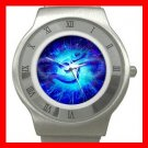 OM Symbol Blue Infinity Stainless Steel Wrist Watch Unisex 038
