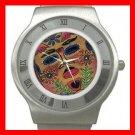 Mask Play Art Hobby Stainless Steel Wrist Watch Unisex 041